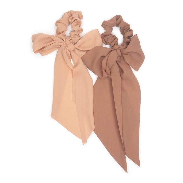 Kitsch® Crepe Scarf Scrunchies - Pack of 2