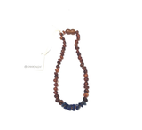Canyon Leaf™ Baltic Amber + Lapis Teething Necklace