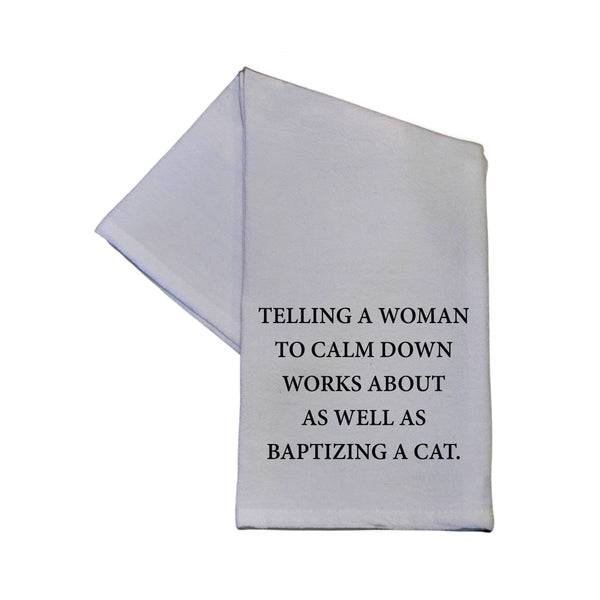 Driftless Studios® Tea Towel - Baptizing a Cat