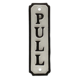 Homart® Cast Iron Sign - Pull