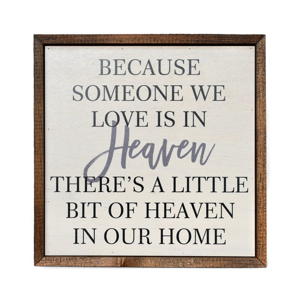 Driftless Studios® Inset Wooden Box Sign - Heaven