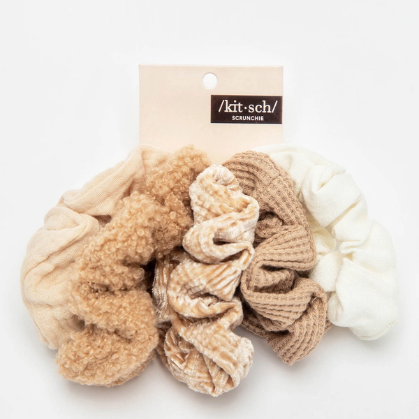 Kitsch® Textured Scrunchies - Pack of 5