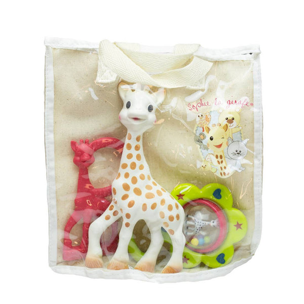 Sophie la Girafe® So' Pure Natural Rubber Teether Gift Bag