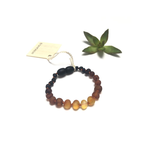 Canyon Leaf™ Baltic Amber Teething Bracelet | Anklet