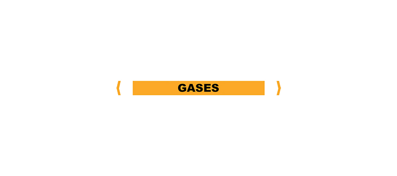 Gases Pipe Markers