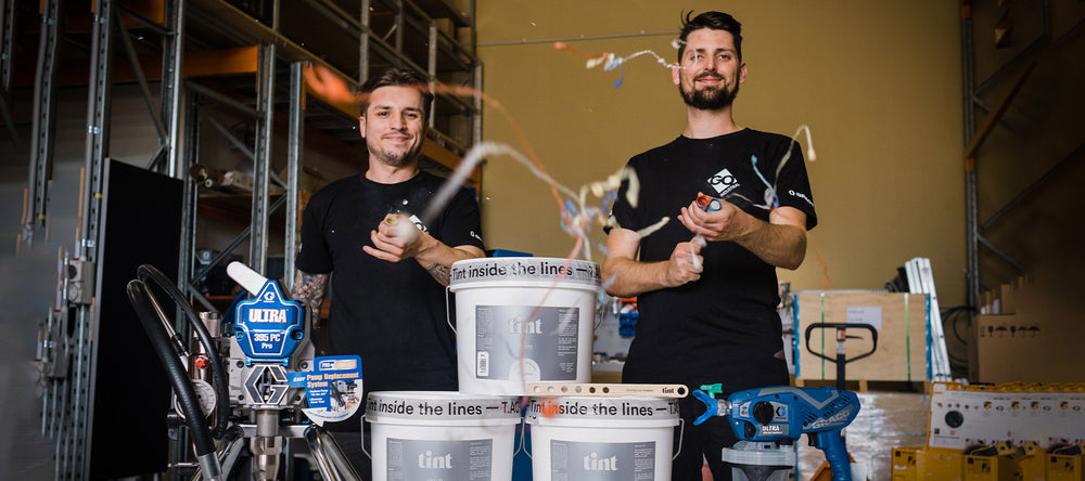 GO Industrial celebrate our new Trade Partnership with Tint Paint spotlighting their paint and our Graco paint sprayers