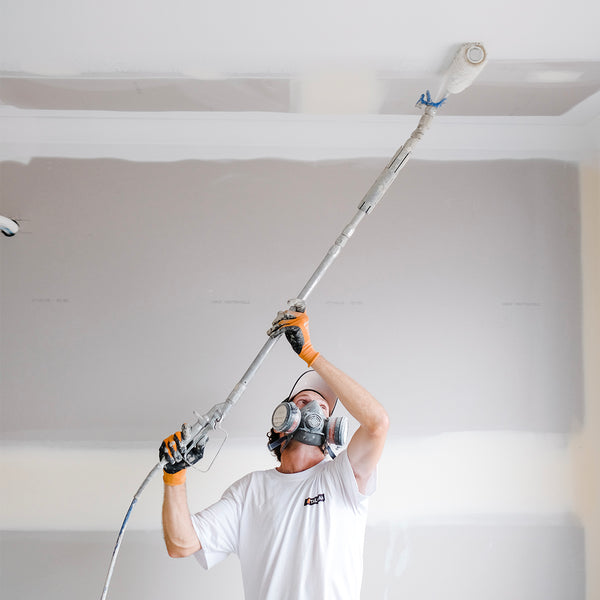 GO Industrial Graco Jetroller & CleanShot Spraying a Ceiling