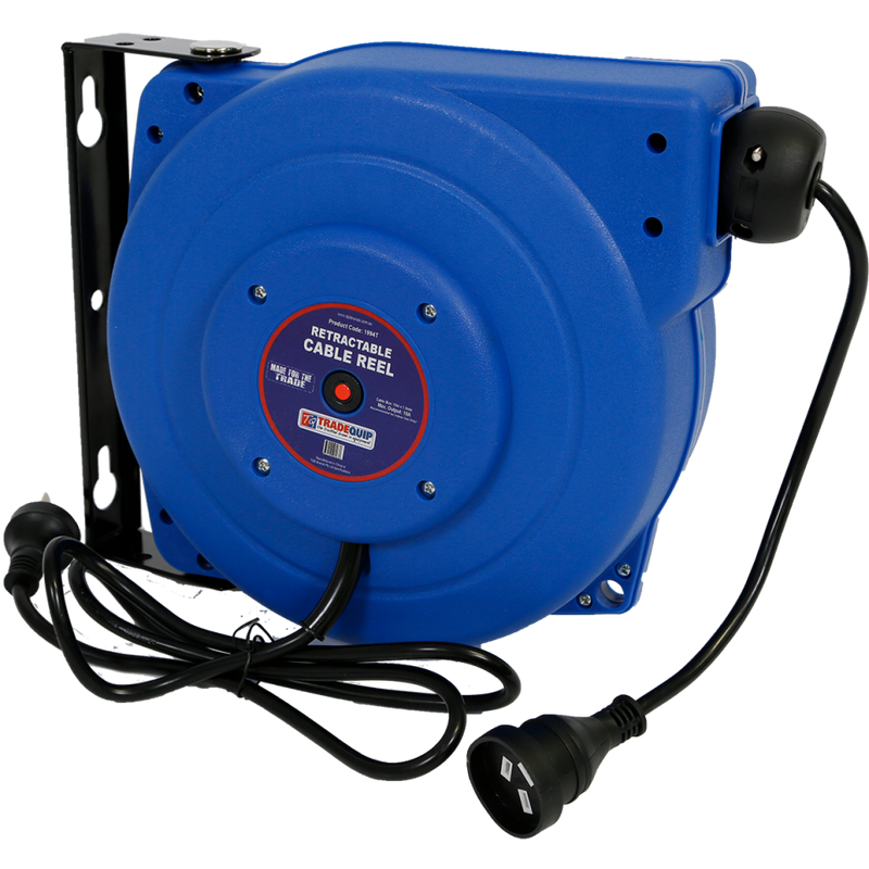 Tradequip Retractable Cable Reel 10A x 15m 1994T