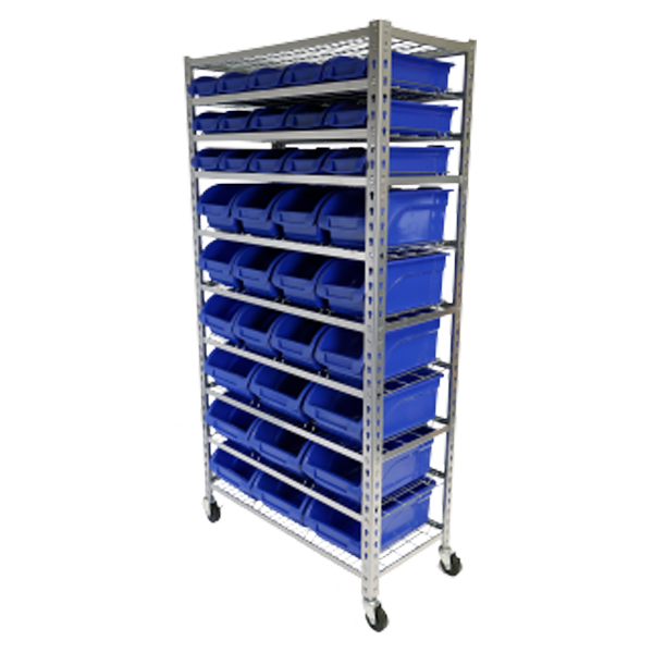 Tradequip 36 Bin Parts Storage Rack 6054