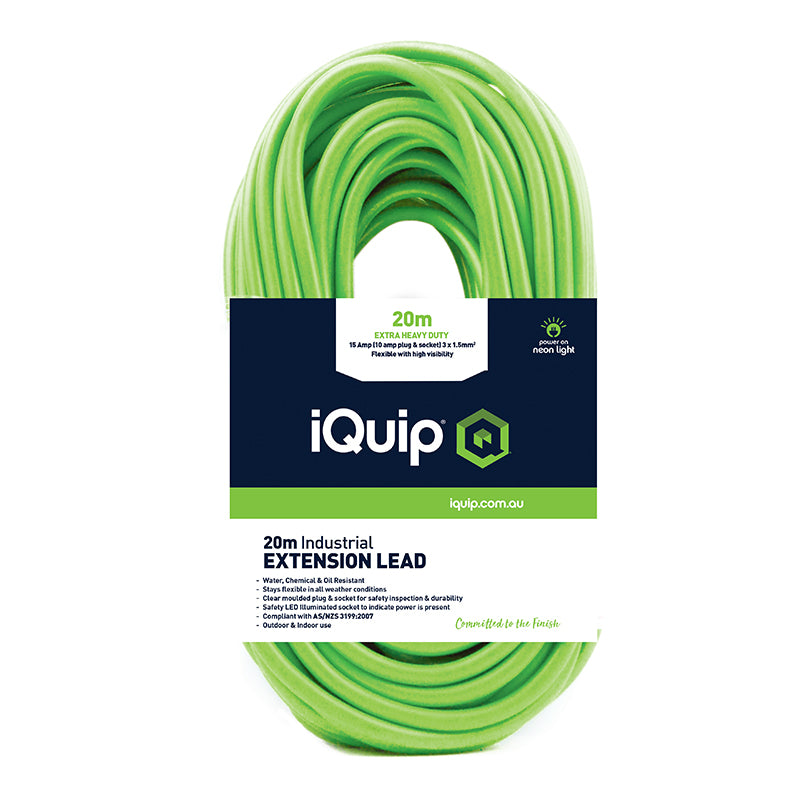 iQuip 15A Extension Lead Range - 10M, 20M & 30M