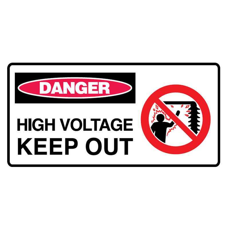 Brady Danger Sign Range: High Voltage Keep Out – GO Industrial