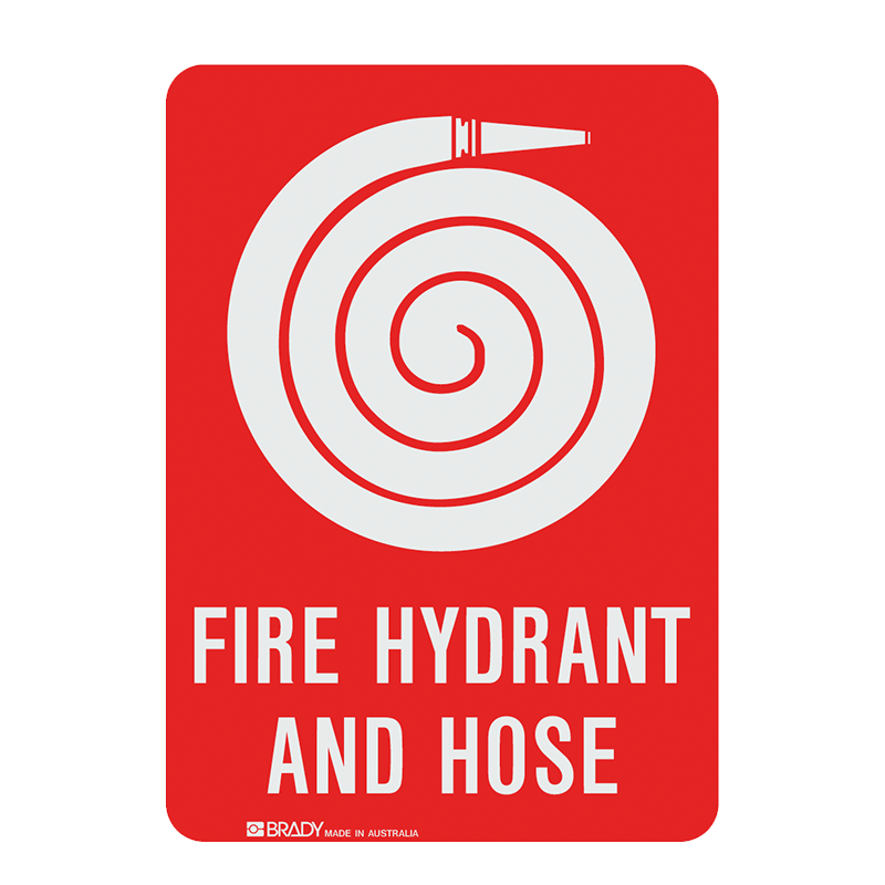 Brady Fire Equipment Signs: Fire Hydrant & Hose