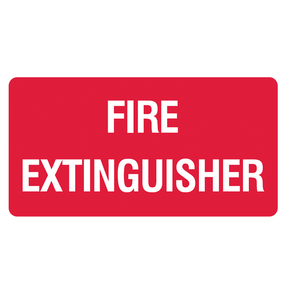 Brady Fire Equipment Signs: Fire Extinguisher (Landscape)