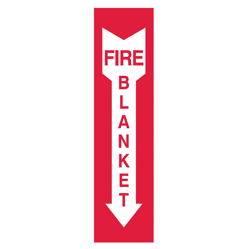 Brady Fire Equipment Signs: Fire Blanket (Directional Arrows)