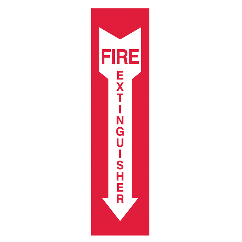 Brady Fire Equipment Signs: Fire Extinguisher (Directional Arrows)
