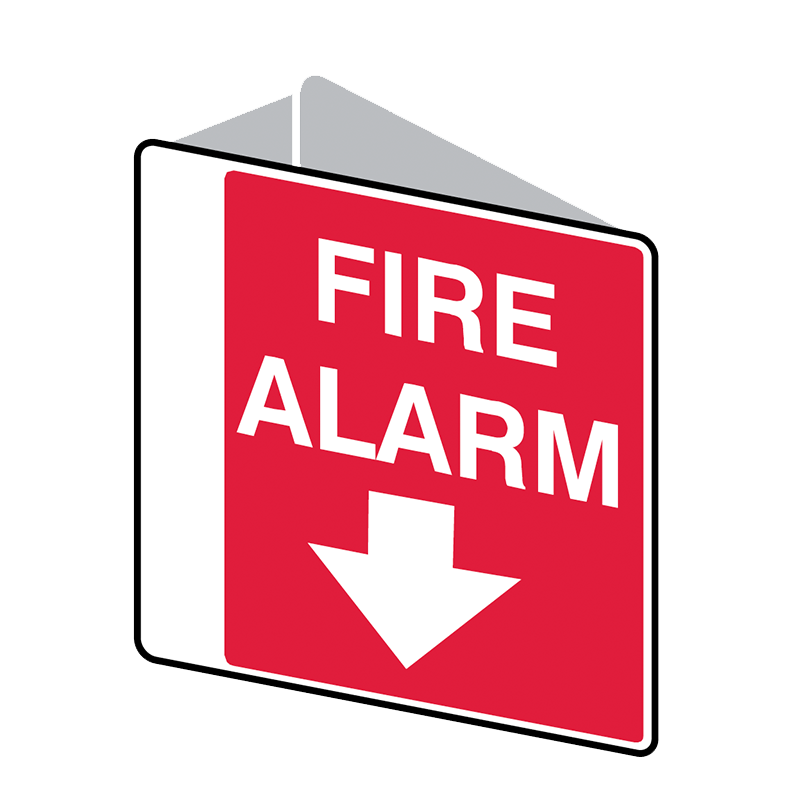 Brady Fire Equipment Signs: Fire Alarm (Double Sided)