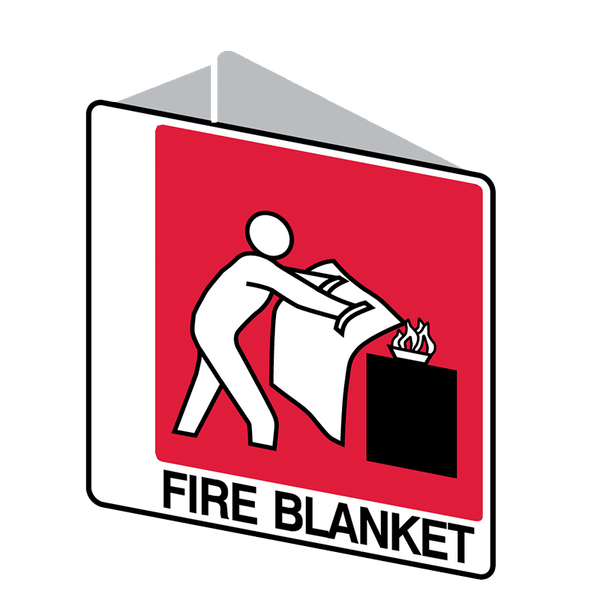 Brady Fire Equipment Signs: Fire Blanket (Double Sided)