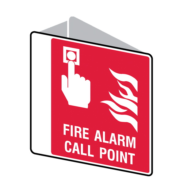 Brady Fire Equipment Signs: Fire Alarm Call Point (Double Sided)