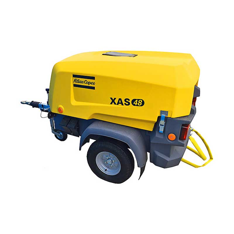 Atlas Copco Air Compressor Series 8 - XAS48 KdG Portable Towable Range