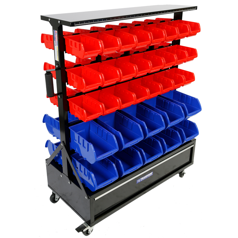 Tradequip Parts Storage Bin Rack 68 Bin 6050
