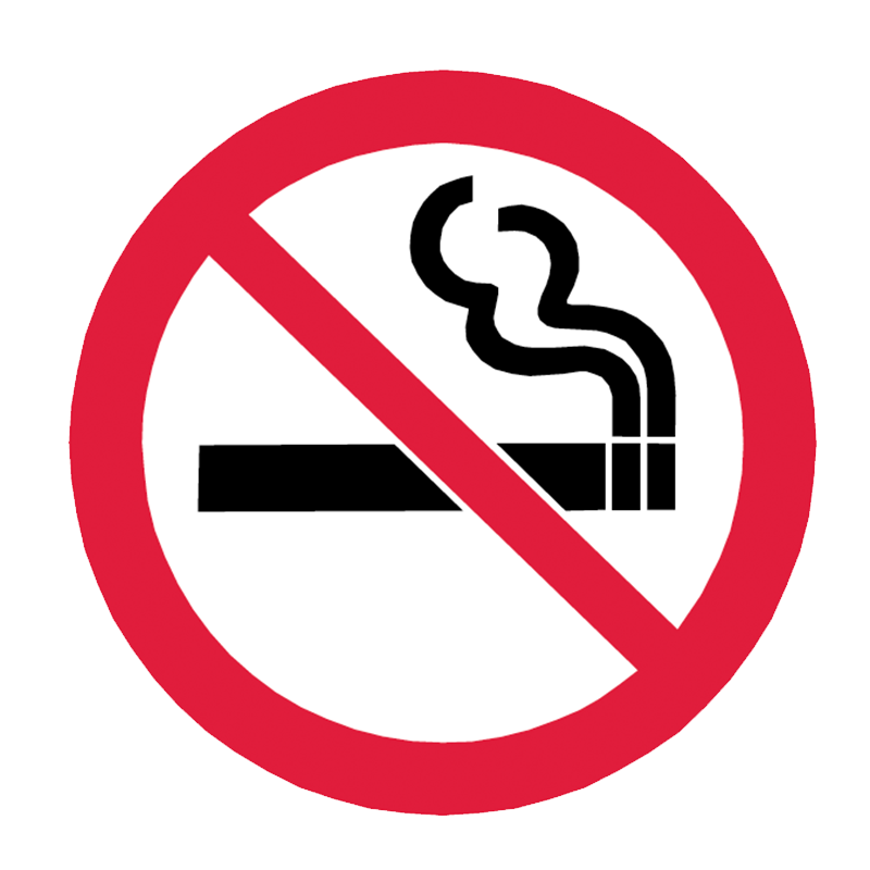 Brady General Prohibition Sign: No Smoking (Round Sign)