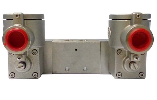 "GO Namur Double Solenoid Valve 1/4"" EXD 316 Stainless 5 Way 2 Position In Line ALV620P2"