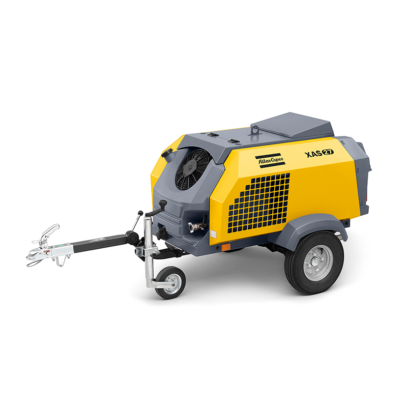 Atlas Copco Air Compressor Portable Petrol Range XAS27 57cfm Towable