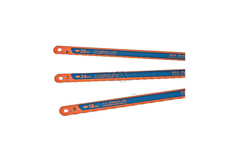 Bahco Hacksaw Blades pack each containing 1x18TPI + 1x24TPI + 1x32TPI Blade