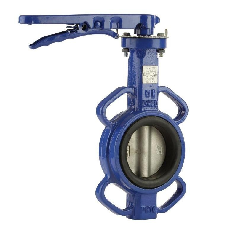 "GO Butterfly Valve Manual CI Body 316 SS Disc EPDM Liner 2"" to 24"" BFD Range"