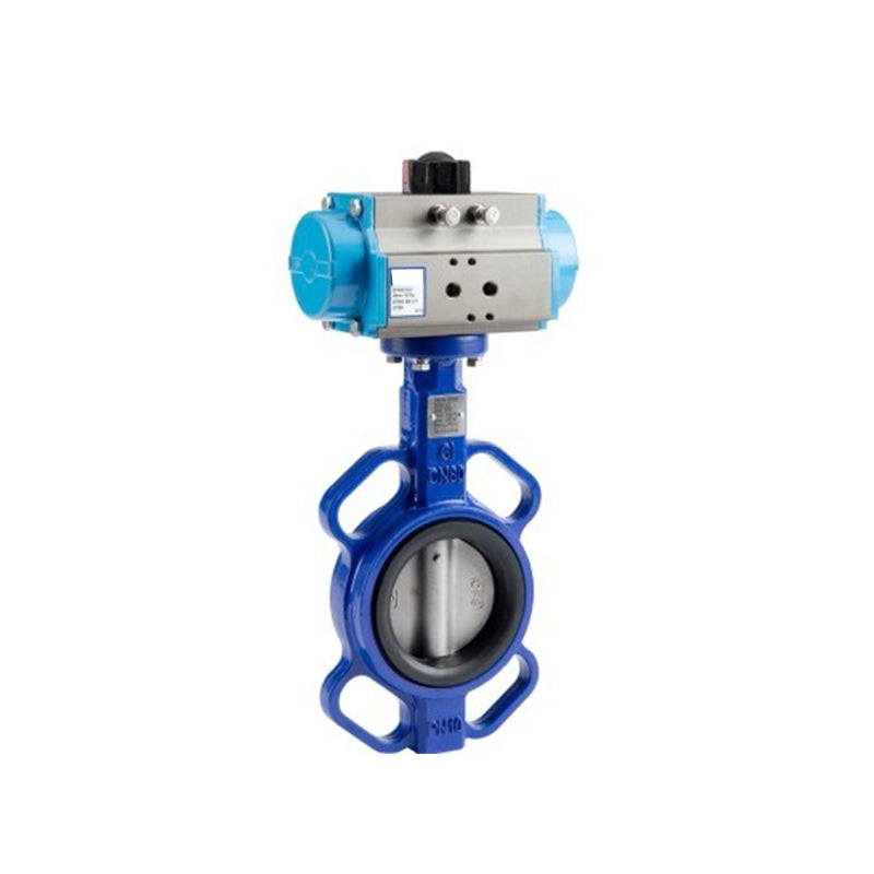 "GO Butterfly Valve Actuated Double Acting Pneumatic CI Body 304 SS Disc EPDM Liner 2"" to 12"" BFKDA Range"