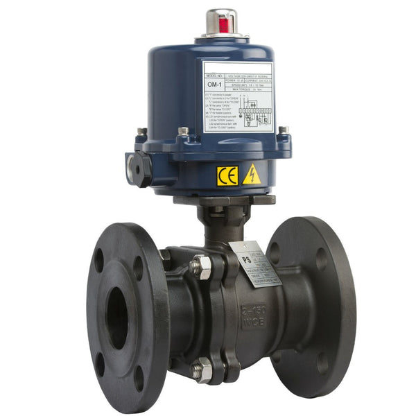 "GO Cast Steel BLCFE Ball Valve Actuated Electric Flanged ANSI 150# Full Bore Fire Safe 1/2"" to 10"" Range"
