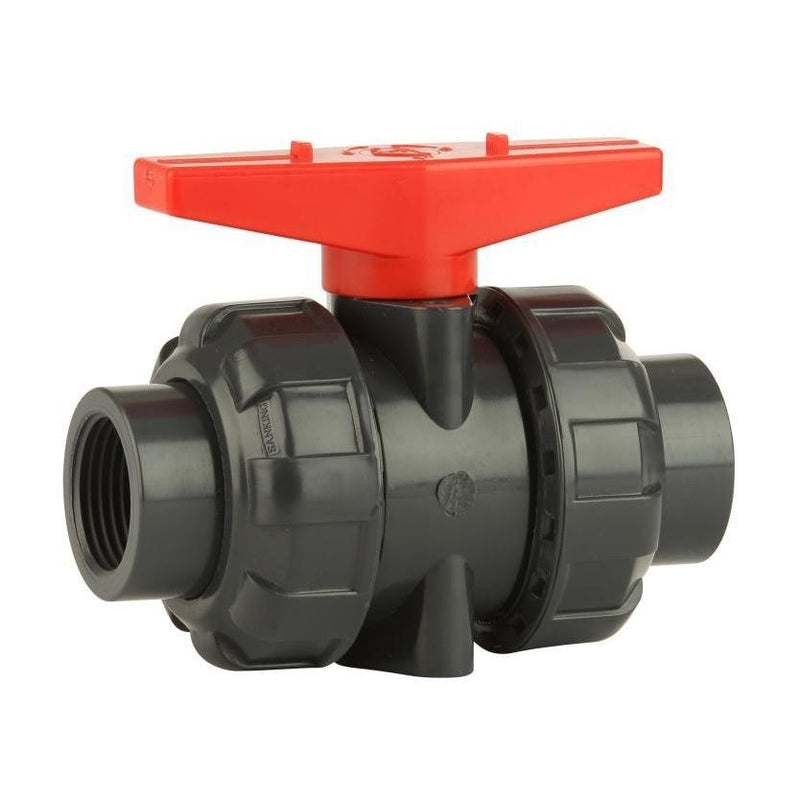 "GO Ball Valve PVC 1/2"" to 4"" Double Union Range BLP"