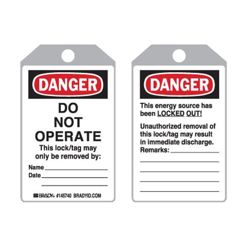 Brady Plastic Encapsulated Toughwash® Lockout Tag - Do Not Operate PKT 10 877205