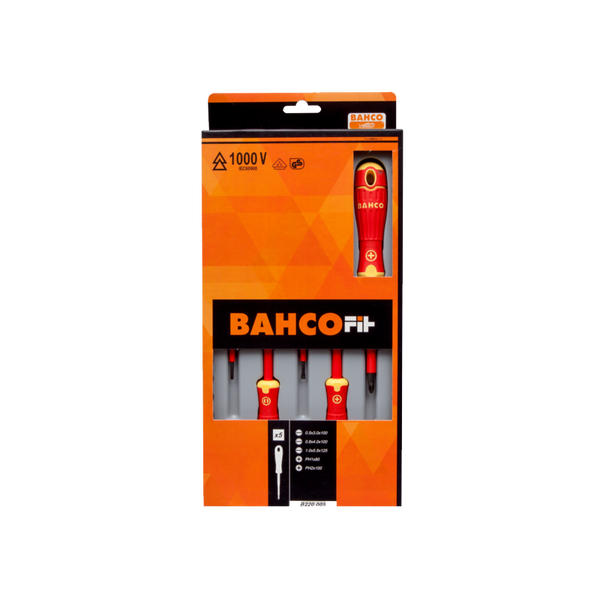 Bahco Electricians Screwdriver Set 1000V Slotted & Phillips® BahcoFit B220.005