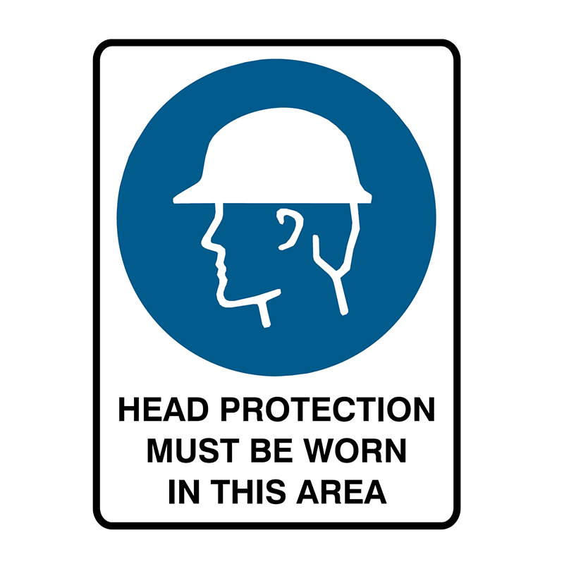 Brady Mandatory Sign Head Protection Must Be Worn In This Area