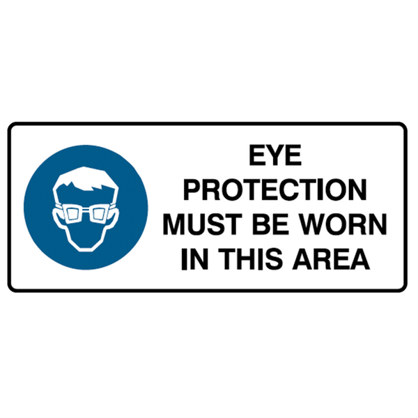 Brady Mandatory Landscape Signs: Eye Protection Must Be Worn In This Area