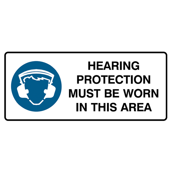 Brady Mandatory Landscape Signs: Hearing Protection Must Be Worn In This Area