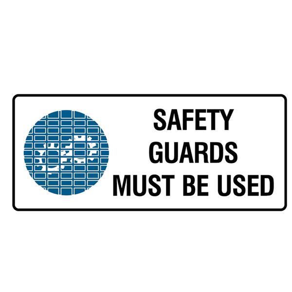 Brady Mandatory Landscape Signs: Safety Guards Must Be Used