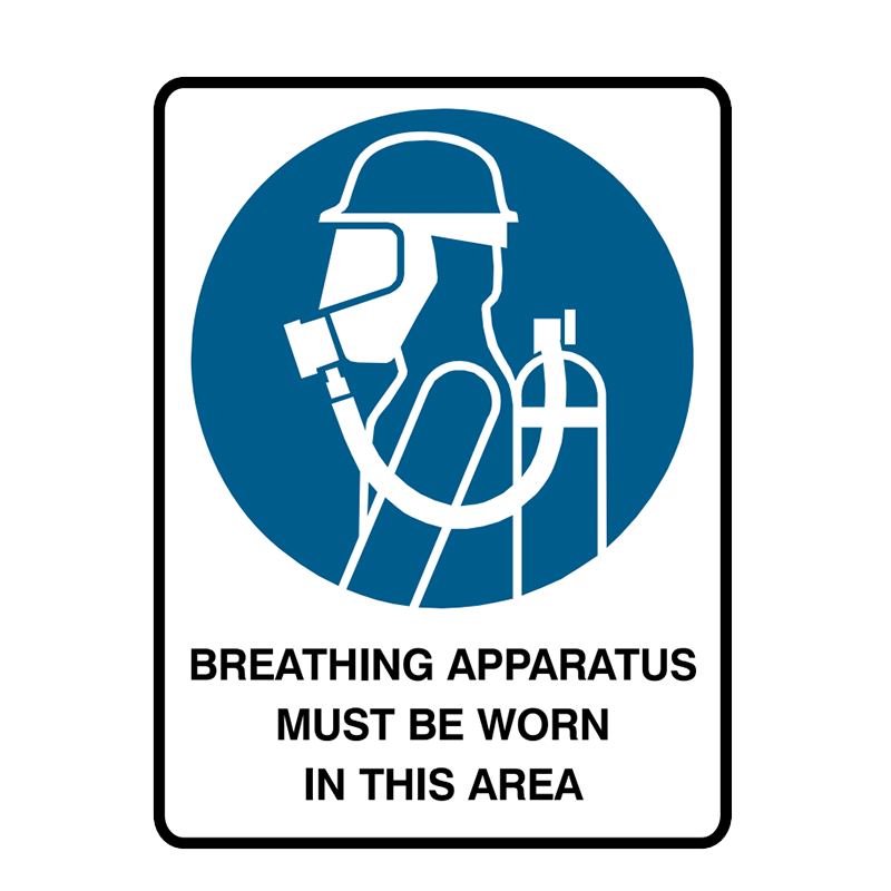 Brady Mandatory Sign Breathing Apparatus Must Be Worn In This Area