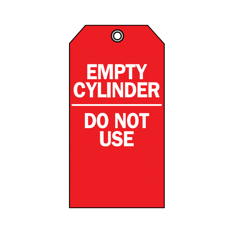 Brady Accident Prevention Tag Empty Cylinder Do Not Use 76196