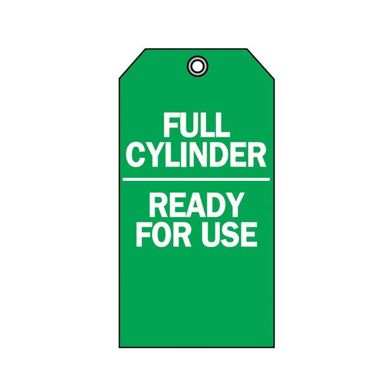 Brady Accident Prevention Tag Full Cylinder Ready for Use 76200