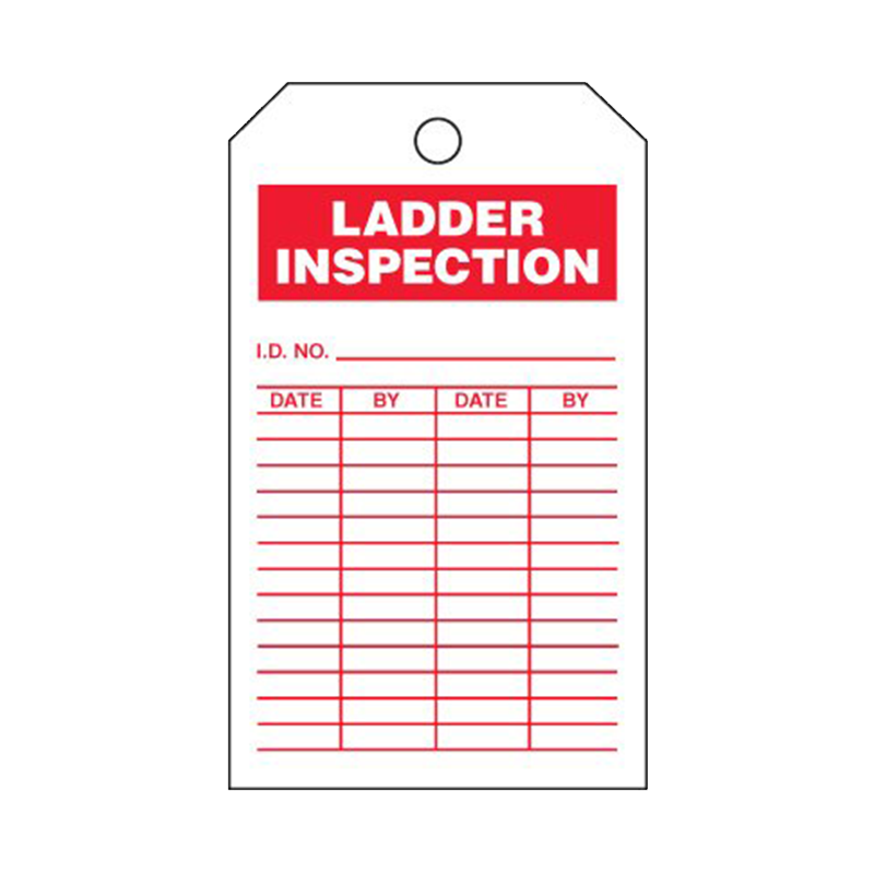 Brady Accident Prevention Tag Ladder Inspection 86555