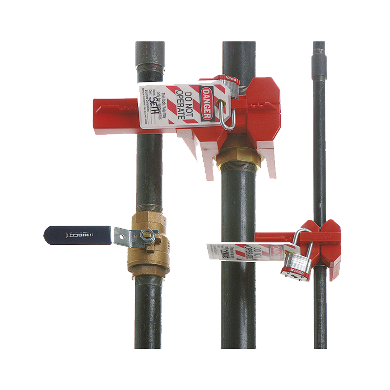 Brady Ball Valve Lockout Range