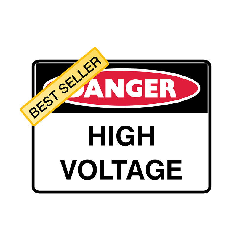 Brady Danger Sign Range High Voltage
