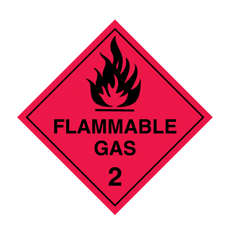 Brady Dangerous Goods Sign / Placard - Class 2 Flammable Gas 2