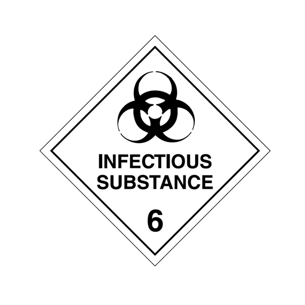 Brady Dangerous Goods Sign / Placard - Class 6 Infectious Substance 6