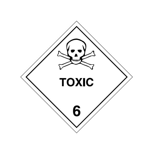 Brady Dangerous Goods Sign / Placard - Class 6 Toxic 6