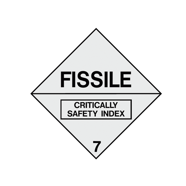 Brady Dangerous Goods Sign / Placard - Class 7 Fissile 7