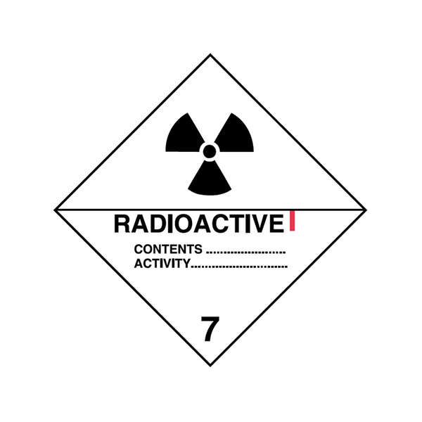 Brady Dangerous Goods Sign / Placard - Class 7 Radioactive I 7