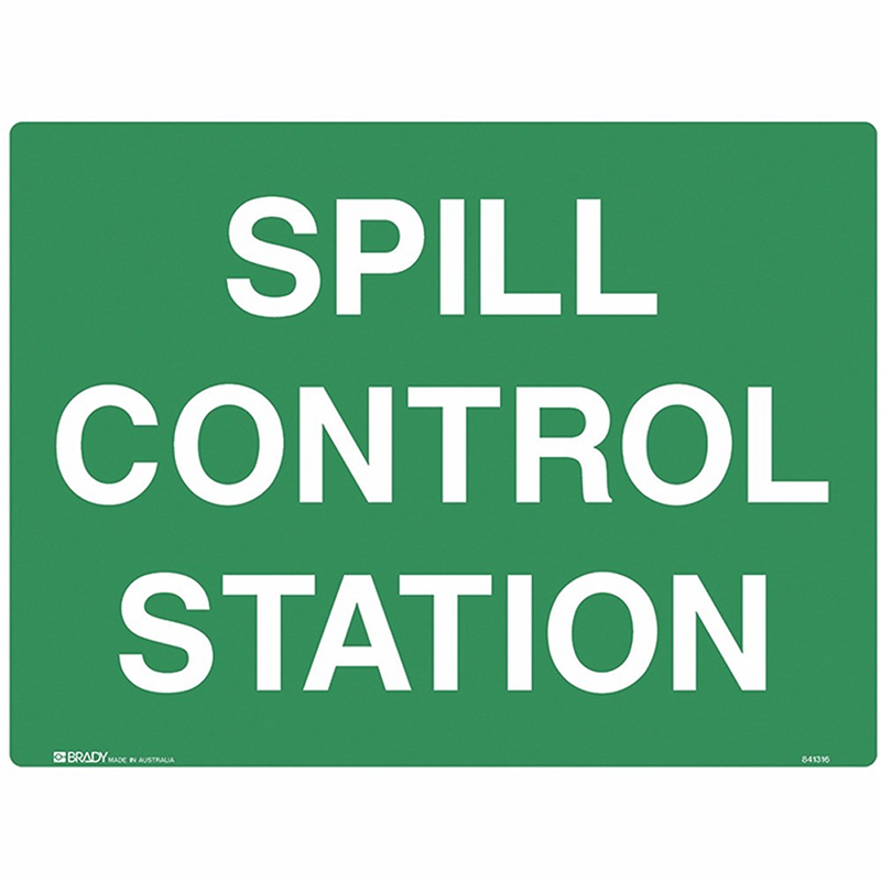 Brady Emergency Information Sign: Spill Control Station